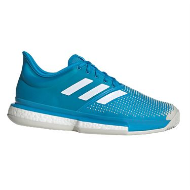 adidas Sole Court Boost Clay Mens Tennis Shoe - Shock Cyan/White