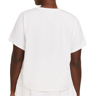 Nike Court Victory Top Extended/Plus Size Womens White/Black DB6618 100