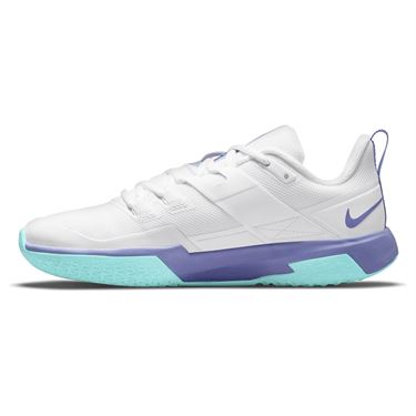 Nike Court Vapor Lite Womens Tennis Shoe White/Purple Pulse/COPA DC3431 124