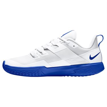 Nike Court Vapor Lite Mens Tennis Shoe White/Hyper Blue DC3432 124