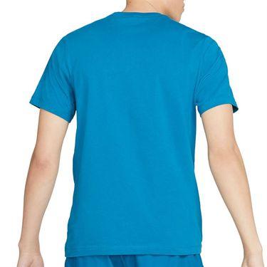 Nike Court Tee Shirt Mens Green Abyss/White DC5246 301
