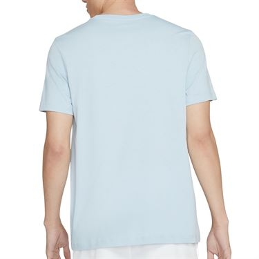 Nike Court Tee Shirt Mens Lt Armory Blue/Black DC5246 440