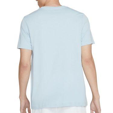Nike Court Tee Shirt Mens Lt Armory Blue/Black DC5246 440