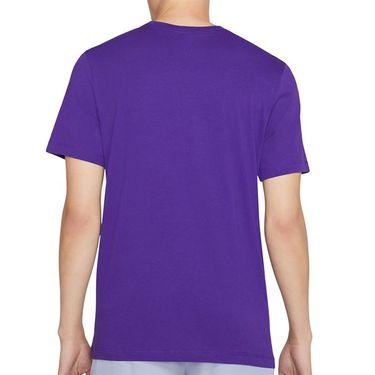 Nike Court Tee Shirt Mens Court Purple/White DC5246 547