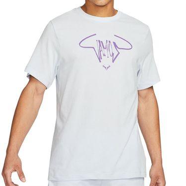 Nike Court Dri FIT Rafa Tee Shirt Mens Football Grey/Wild Berry DC5364 085