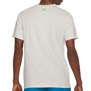Nike Court Tee Shirt Mens Grey Heather DC5376 050