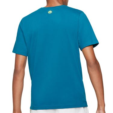 Nike Court Tee Shirt Mens Green Abyss DC5376 301