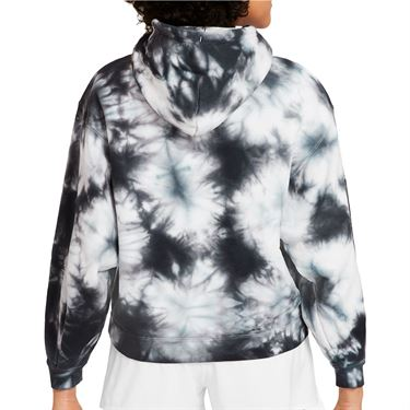 Nike Court Hoodie Womens White/Black DC7447 100