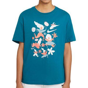 Nike Court Tee Shirt Womens Green Abyss DC8928 301
