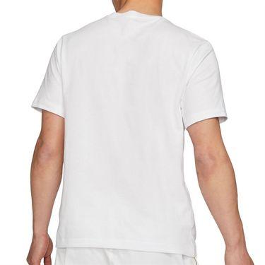 Nike Court Logo Tee Shirt Mens White/Martian Sunrise DD2228 100