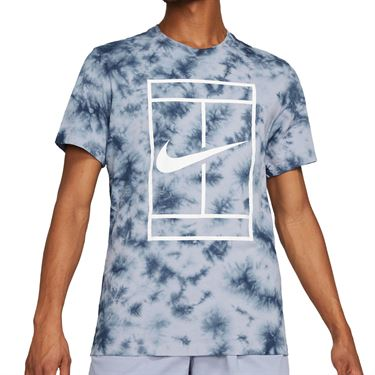 Nike Court Logo Tee Shirt Mens Indigo Haze/Obsidian DD2238 519