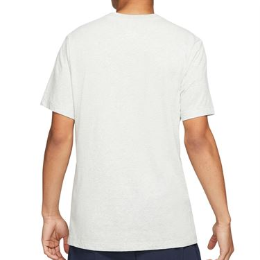 Nike Rafa Logo Tee Shirt Mens Grey Heather/Black DD2248 050
