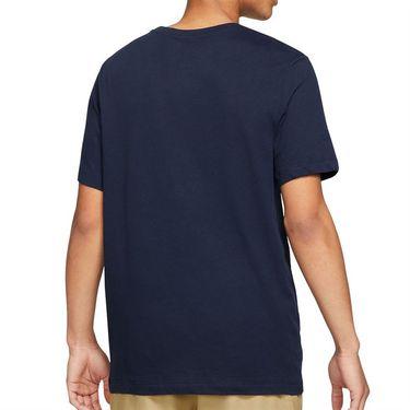 Nike Court Tee Shirt Mens Obsidian DD2250 451
