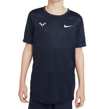 Nike Court Boys Rafa Crew Shirt Obsidian/White DD2304 451