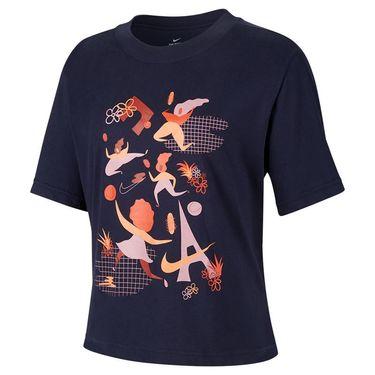 Nike Court Dri FIT Tee Shirt Womens Obsidian DD9628 451