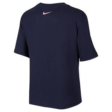 Nike Court Dri FIT Tee Shirt Womens Obsidian DD9628 451