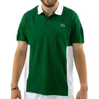 Lacoste Chemise Polo Mens Green/White DH2053 7AZû