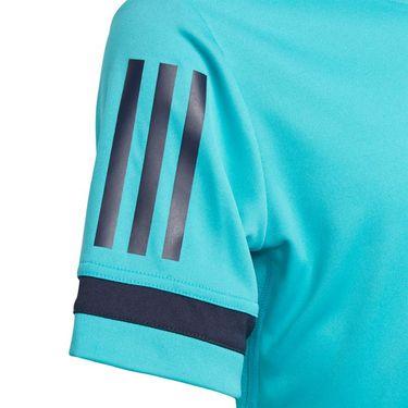 adidas Boys Club 3 Stripe Crew - Hi Res Aqua