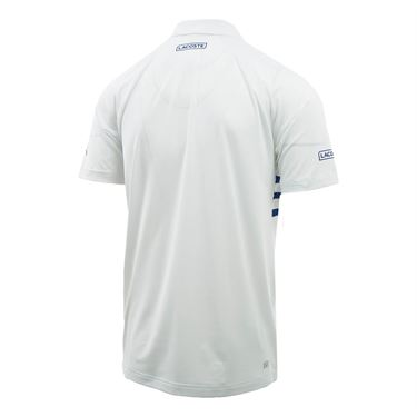 Lacoste Ultra Dry Geo Print Polo - Blanc/Paquebot