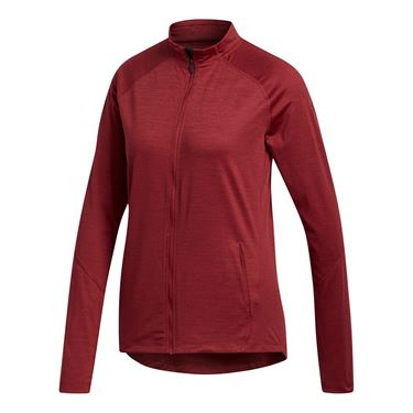 adidas Heather Full Zip Jacket - Noble Maroon Heather