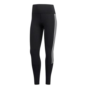 adidas Believe This High Rise 7/8 3 Stripe Tight - Black/White