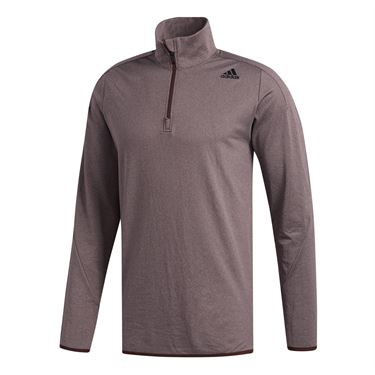 adidas Ultimate Transitional 1/4 Zip - Night Red/Noble Maroon Heather