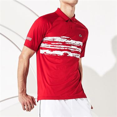 Lacoste Novak Polo Mens Red DH7974 4FG