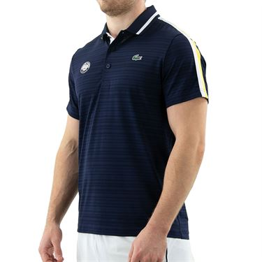 Lacoste SPORT French Open Edition Second-Skin Polo - Navy Blue/White/Sunny