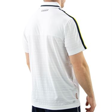 Lacoste SPORT French Open Edition Second-Skin Polo - White/Navy Blue/Sunny
