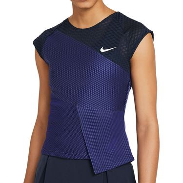 Nike Court Dri FIT ADV Slam Top Womens Obsidian/White DJ6567 451