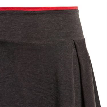 adidas Girls Barricade Skirt - Black/Black Heather