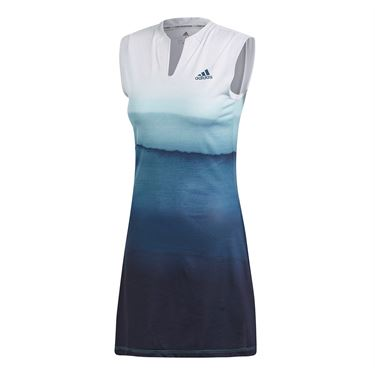 adidas Parley Dress - White/Easy Blue