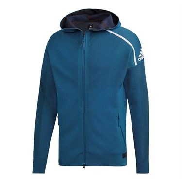 adidas Parley Zone Hoody - Petrol Night
