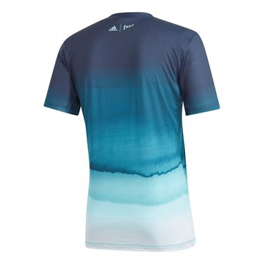 adidas Parley Printed Crew - White/Easy Blue