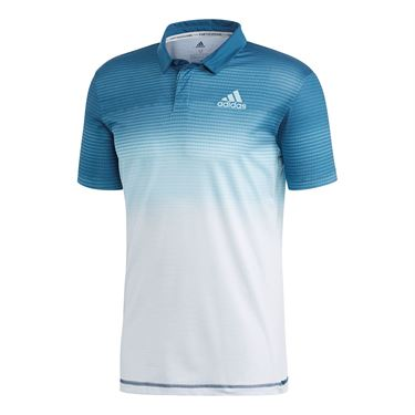 adidas Parley Polo - White/Easy Blue
