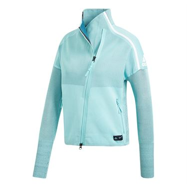 adidas Parley Zone Hood Jacket - Blue Spirit/Petrol Night