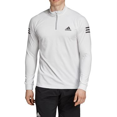 adidas Club 1/4 Zip Midlayer - White/Black