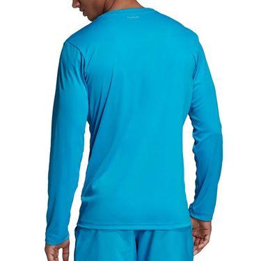 adidas UV Protect Long Sleeve Shirt - Shock Cyan/Black