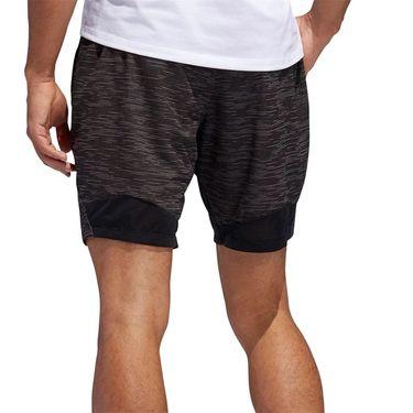 adidas 4K Heather Knit 8 inch Short - Black