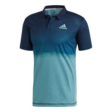 adidas Parley Polo - Blue Spirit/Petrol Night