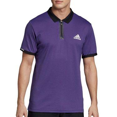 adidas Escouade Polo - Legend Purple/White