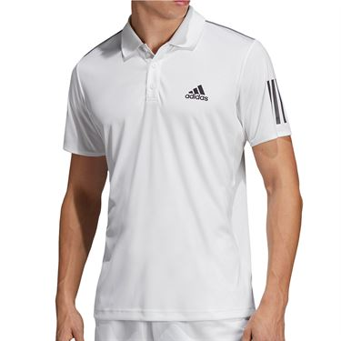 adidas Club 3 Stripe Polo Mens White/Black DU0849