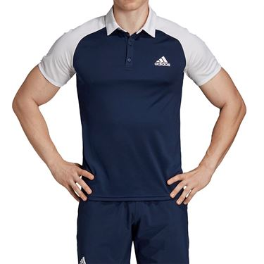 adidas Club Colorblock Polo - Collegiate Navy/White