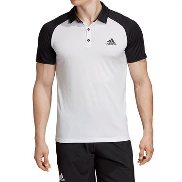 adidas Club Colorblock Polo - White/Black