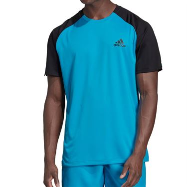 adidas Club Color Block Crew - Shock Cyan/Black