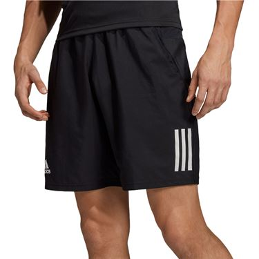 adidas Club 3 Stripe Short Mens Black/White DU0874