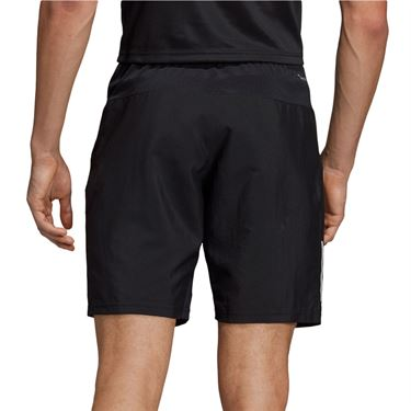 adidas Club 3 Stripe Short Mens Black/White DU0874