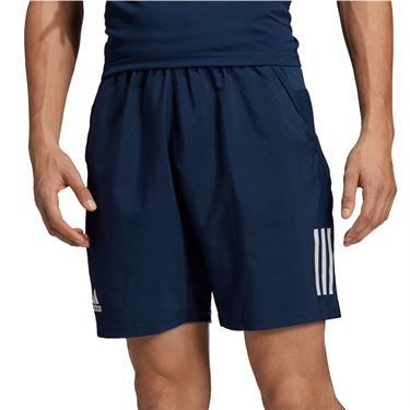 adidas Club 3 Stripe Short Mens Collegiate Navy/White DU0875