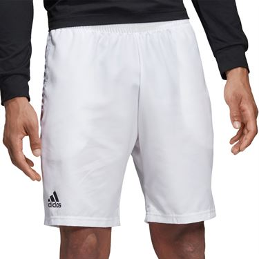 adidas Club Short 9 inch Mens White/Black DU0879