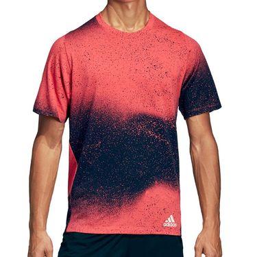 adidas Sport Spray Graphic Tee - Shock Red/Legend Ink